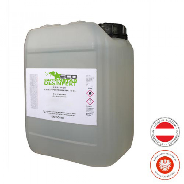 ECO GREENSTAR DESINFEKT disinfectant spray for surfaces 5000ml canister