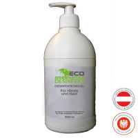 ECO GREENSTAR DISINFECT hand gel 500ml pump bottle